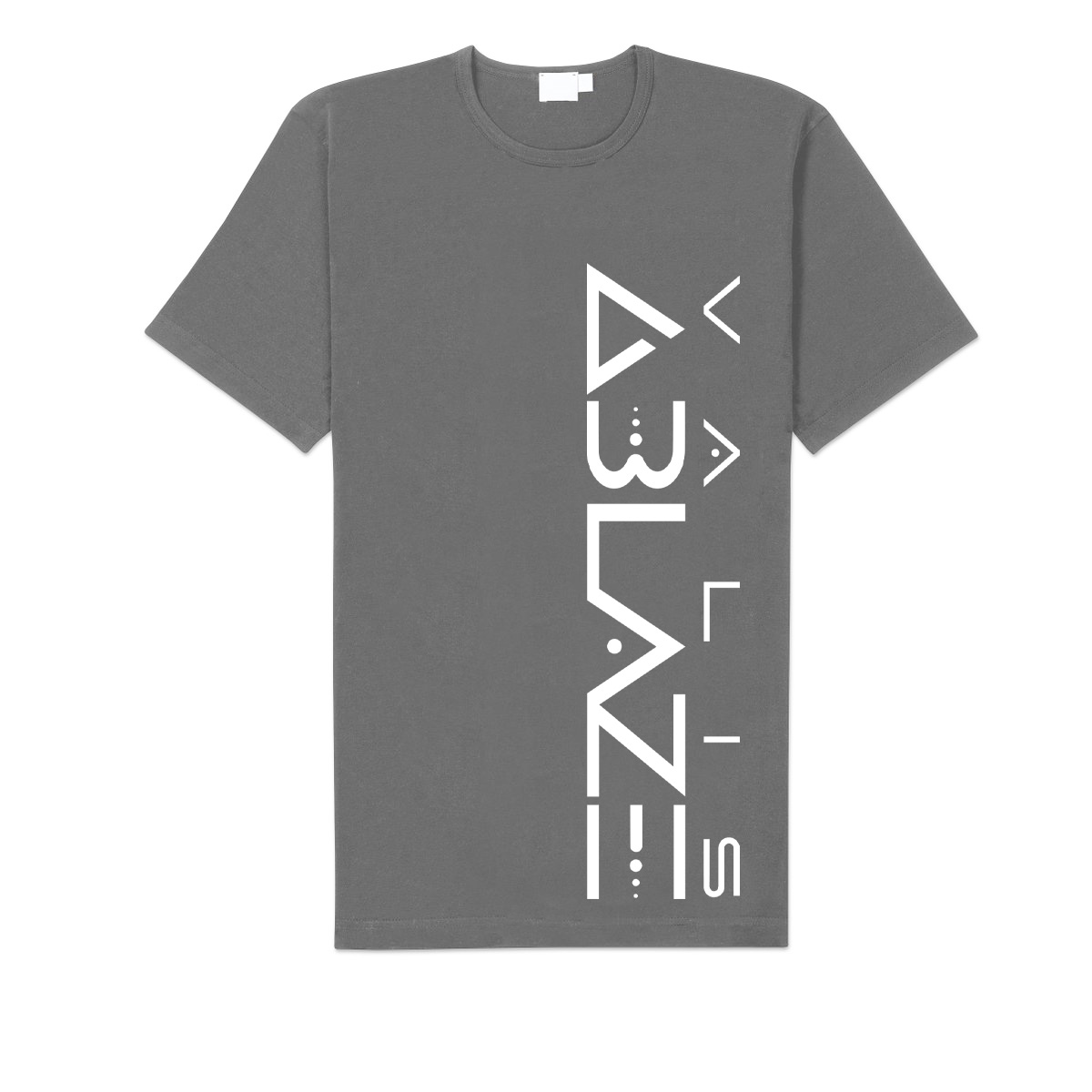 Valis Ablaze Vertical Logo Grey T Shirt